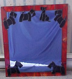 Scottish Terrier Mirror, Custom Stained glass piece by Johnna. Custom Orders Welcomed!