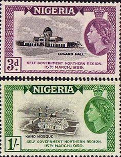 Nigeria 1959 Self-Government Northern Nigeria Set Fine Mint SG 83 4 Scott 95 6 Other Nigerian Stamps HERE