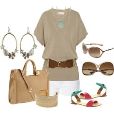 classy outfit that is still cool for hot summer days