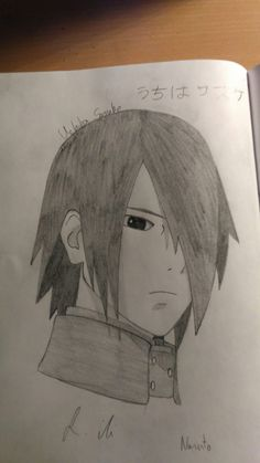 This is Uchiha Sasuke from Naruto (but of corse that picture from Boruto). I don't like this character because he's so unfrensly. Naruto Sketch Drawing, Naruto Drawings, Anime Drawings Sketches, Cool Sketches, Anime Sketch, Anime Naruto, Naruto Cute, Naruto Shippuden Sasuke, Itachi