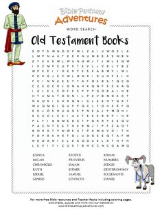Word Search: Old Testament Books (Tanakh) Bible Studies . Bible Word Search: Old Testament (Tanakh) Bible studies old testament books - BooksBible Word Search: Old Testament (Tanakh) Bible studies old testament books - Books Bible Activities For Kids, Bible Study For Kids, Sunday School Activities, Bible Lessons For Kids, Sunday School Lessons, Kids Bible, Bible Games, Contexto Social, Bible Quiz