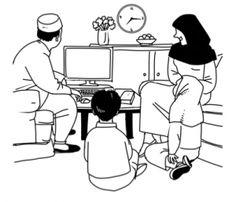 Une famille musulmane