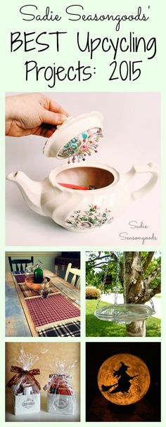 Best upcycle and repurpose projects using vintage treasures and thrift store finds by Sadie Seasongoods