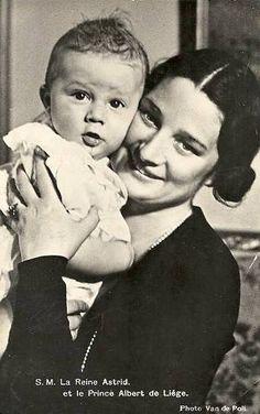 Königin Astrid von Belgien mit Sohn Albert, future King of Belgium | Flickr - Photo Sharing!