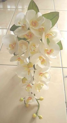 A Lovely Silk Orchid Cascade Bouquet For Your Tropical Wedding