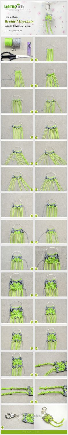 How to Make a Braided Keychain in Lucky Clover Leaf Pattern?----Click the photo to know more information.