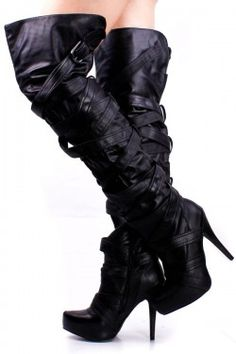 $30   BLACK PATENT LEATHER STRAPPY THIGH HIGH BOOTS,Boots,sexy boots,,High Heel Boots,Women's Sexy Boots,Thigh High Boots,white fur boots,Fur boots,Platform Knee High Boots,Go Go Boots,black suede boots,heel boots,flat boots,Lace Up Boots,Platform Knee High Boots,Cowgirl Boot,Womens Dress Boot,Skirt Boot