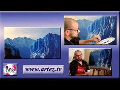 Como pintar un glaciar con acrílicos de alta viscosidad