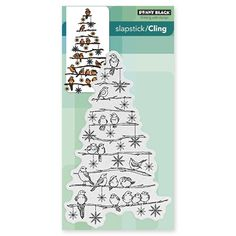 Penny Black Cling Stamp TREE CHIRPS Set 40-409 at Simon Says STAMP!