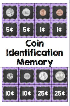 Coin Identification - Use this two page resource with your preschool, Kindergarten, 1st, 2nd, or 3rd grade classroom or homeschool students. This FREE resource is great for students to identify both sides of a coin. It contains a penny, nickel, dime, and quarter. Both sides of the coins are included! Great for math centers or stations, assessment, a game of memory, and more. {preK, K, first, second, third graders, freebie}