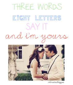 three words, eight letters...