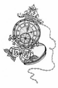 Die 42 Besten Bilder Von Taschenuhr Tattoo Clock Tatoos Und