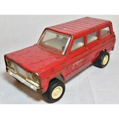 Fire Chief $15.00 Red pressed metal Tonka 1960s Jeep Wagoneer