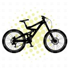 BMX bicycle silhouette. Click to zoom