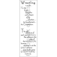Quick Quotes - Vellum Wrestling Quote : Sports Scrapbook Supplies at Scrappin` Sports Stuff