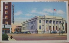 United States Post Office; c.1940s (linen)
