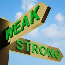 The trick is in what one emphasizes. We either make ourselves miserable or we make ourselves strong.The amount of work is the same.