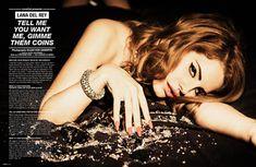 Lana Del Rey in 'Lovecat' magazine. Photographed by Ellen von Unwerth  #music #photography #fashion #editorials
