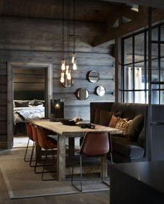 Hafjell • Slettvoll Log Home Interiors, Cottage Interiors, Hygge Home, Luxury Modern Homes, Modern Rustic Homes, Country Modern Home, Chalet Design, Grey Interior Design, Welcome To My House
