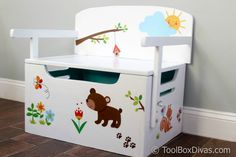 Keep your little one's room organized and clean with this multi-purpose toy … - Modern Painted Toy Chest, Wood Projects, Woodworking Projects, Toy Storage Bench, Loft Bed Frame, Wooden Bed Frames, Multifunctional Furniture, Baby Furniture, Wood Toys