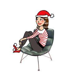 Zeebloguette de Noël dans son Fauteuil Lounge de Knoll à -53%