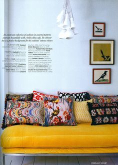 Cushions at The Rug Company, as seen in Homes & Gardens
