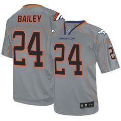Men s Nike Denver Broncos  24 Champ Bailey Elite Lights Out Grey Jersey   129.99 Eric Decker b64b2f2cf