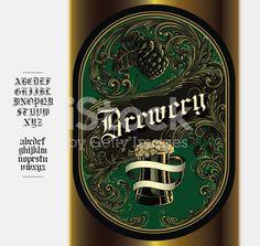 Beer Label royalty-free stock vector art