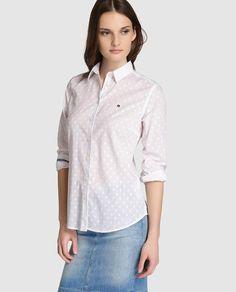 Camisa de mujer Gaastra en blanco con topos