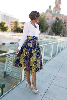 DIY Box Pleated Ankara Skirt ~African fashion, Ankara, kitenge, African women dresses, African prints, African men's fashion, Nigerian style, Ghanaian fashion ~DKK #AfricanFashion