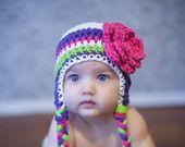 baby hat, little girls hat, baby girl hat, crochet baby hat, kids hat, crochet kids hat