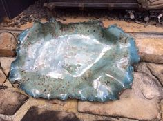 Platter by Susan Garrett Potters Choice Tourmaline and Mayco Cappacino Mint