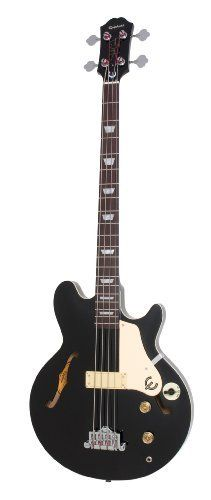 Epiphone Jack Casady Electric Bass Guitar, Ebony by Epiphone