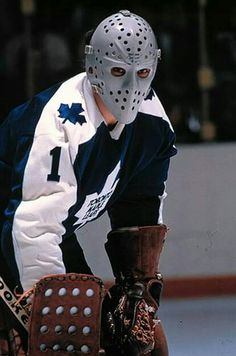 Jacques Plante ( informational link under construction. Women's Hockey, Hockey Baby, Hockey Games, Hockey Players, Bernie Parent, Maple Leafs Hockey, Goalie Mask, Good Old Times, Nfl Fans