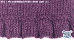 How to knitted a pleated ruffle edge. This would be a great edge for a simple stockinette pullover.