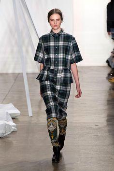 Plaid Runway Fashion Week Suno