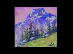 Видео мастер-класс для начинающих: рисуем горы пастелью - Ярмарка Мастеров - ручная работа, handmade