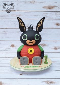3D Bing Bunny cake (on CBeebies in the UK) by Deb Williams Cakes