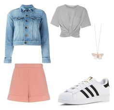"""""""Nice💖"""" by vanloonnele on Polyvore featuring mode, Yves Saint Laurent, T By Alexander Wang, adidas, Alex Monroe en RED Valentino"""