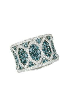 omg. to die for. Effy Jewelry Pave Classica Bella Bleu Diamond Ring, 2.46 TCW