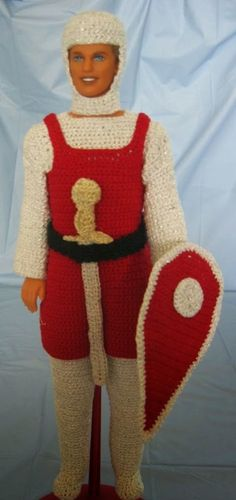 Donna's Crochet Designs Blog of Free Patterns: Knight Ken Outfit Free Crochet Pattern