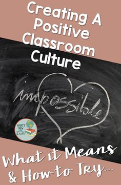 Especially for newer teachers, creating a positive classroom culture is a challenge, no matter the environment. However, it can be done with hard work and perseverance in building a positive classroom community. Read more about how I mold my classroom env Classroom Procedures, Classroom Organization, Classroom Management, Classroom Behaviour, Behavior Interventions, Classroom Design, Classroom Ideas, Secondary Teacher, Elementary Teacher