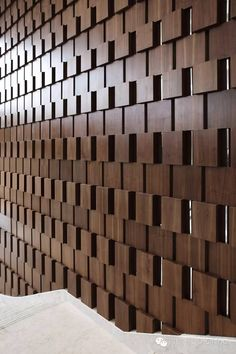 Dynamic wood pattern to clad feature walls, staircases, fireplaces, entryways. Wooden Accent Wall, Wooden Wall Art, Wooden Walls, Cladding Design, Wood Cladding, Wood Mosaic, Mosaic Wall, Wood Wall Design, Wooden Pattern