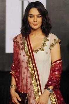 Bollywood actress Prity Zinta during Amitabh Bachchan 70th birthday party celebration in Mumbai on Wednesday night.