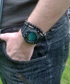 Selbst Männer #Armbänder machen, mit Lavaperlen oder Achat!