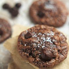 Chocolate Truffle Cookies with Sea Salt.