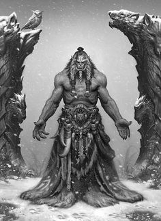 """Orc shaman """"You mistake me, child. He will protect you from all harm. But, you will save him."""""""