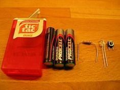 """TicTac flashlight. Ugh I wish I taught 4th grade and could use this as a """"hands on"""" lesson in electric currents!"""