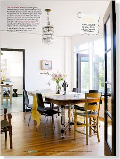 Homes: West Side Story. Clipped from Home Beautiful using Netpage. Taubmans sentimental wall paint
