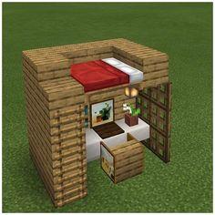 Minecraft Hack, Easy Minecraft Houses, Minecraft House Tutorials, Minecraft House Designs, Minecraft Decorations, Minecraft Bedroom, Minecraft Tutorial, Minecraft Blueprints, Minecraft Crafts